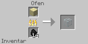 Crafting Minecraft Glas
