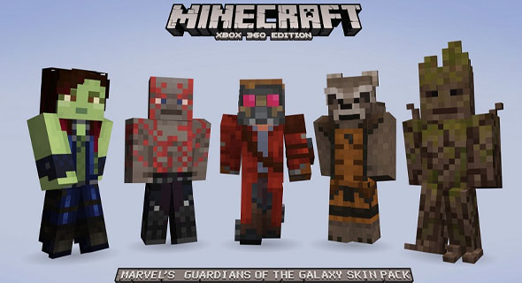 Guardians of the Galaxy Minecraft Skin Pack