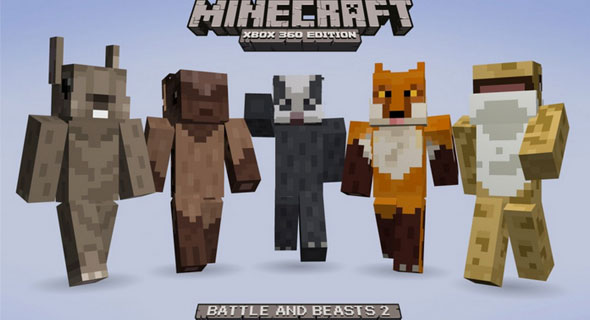 Minecraft Xbox Edition Battle Beasts Skin Pack Minecraft - Minecraft soldaten spiele