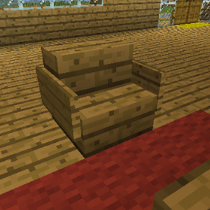 sofa bei minecraft bauen. Black Bedroom Furniture Sets. Home Design Ideas