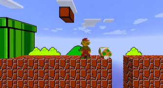 Super Mario in Minecraft